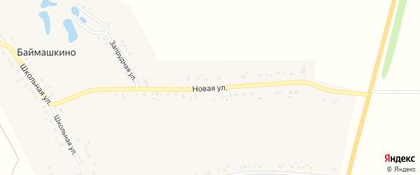 Новая улица на карте села Баймашкино с номерами домов