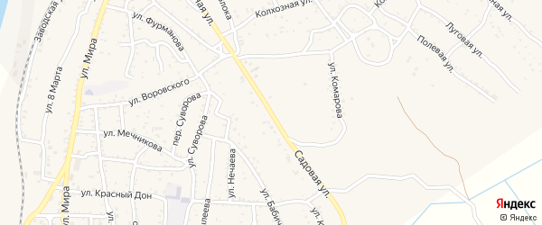 Садовая улица на карте Ахтубинска с номерами домов