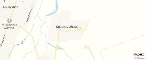 Карта Красномайской деревни в Чувашии с улицами и номерами домов