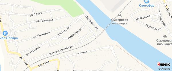Паромный переулок на карте Ахтубинска с номерами домов
