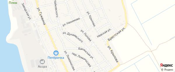 Улица Попова на карте Ахтубинска с номерами домов