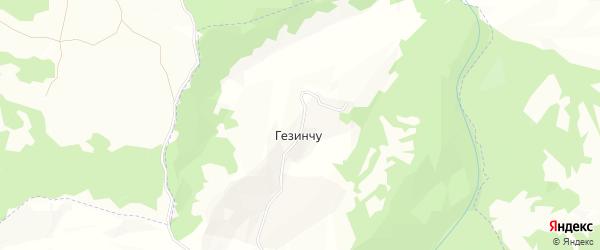 Карта села Гезенчу в Чечне с улицами и номерами домов