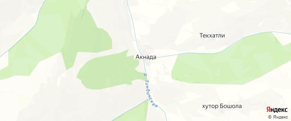 Карта села Акнады в Дагестане с улицами и номерами домов