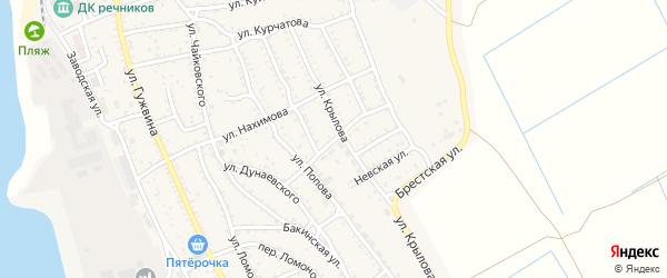 Костромская улица на карте Ахтубинска с номерами домов