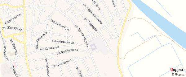Киевская улица на карте Ахтубинска с номерами домов