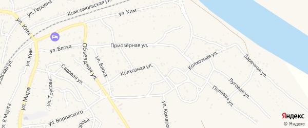 Колхозная улица на карте Ахтубинска с номерами домов