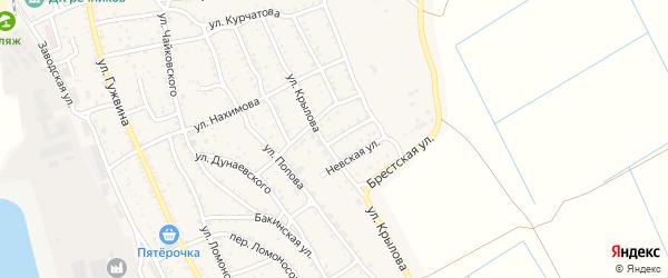 Омская улица на карте Ахтубинска с номерами домов