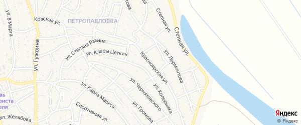 Красноярская улица на карте Ахтубинска с номерами домов