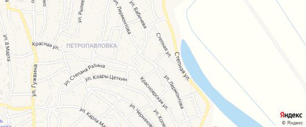 Улица Лермонтова на карте Ахтубинска с номерами домов
