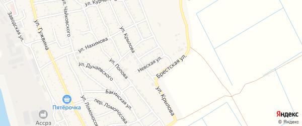 Невская улица на карте Ахтубинска с номерами домов
