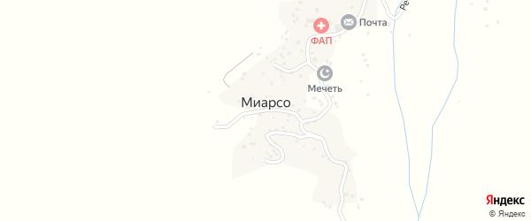 Улица Сангар на карте села Миарсо с номерами домов