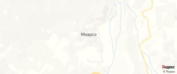 Карта села Миарсо в Дагестане с улицами и номерами домов