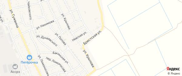 Брестская улица на карте Ахтубинска с номерами домов