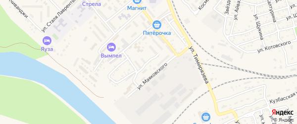 Улица Грибоедова на карте Ахтубинска с номерами домов