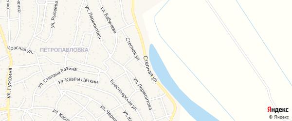 Степная улица на карте Ахтубинска с номерами домов