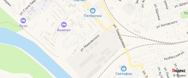 Улица Маяковского на карте Ахтубинска с номерами домов
