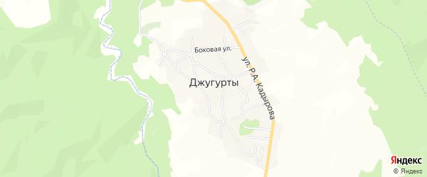 Карта села Джугуртов в Чечне с улицами и номерами домов