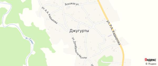 Улица имМуслима Ахметхаджиева на карте села Джугуртов с номерами домов