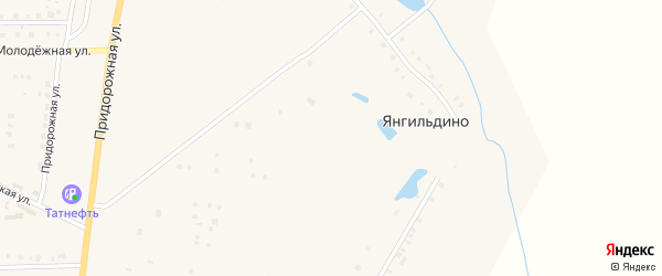 Территория РТП на карте деревни Янгильдино с номерами домов