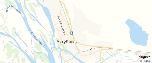 Карта Ахтубинска с районами, улицами и номерами домов