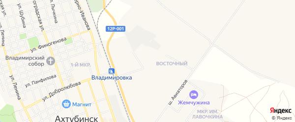 Карта населенного пункта Зимовки Новенькой города Ахтубинска в Астраханской области с улицами и номерами домов