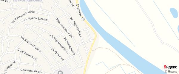 Степной переулок на карте Ахтубинска с номерами домов