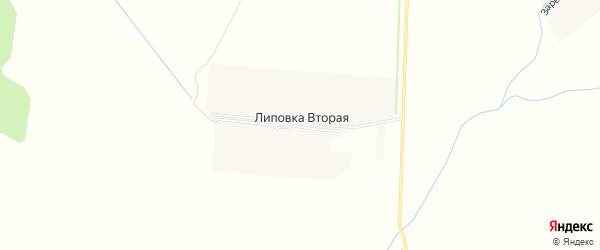 Карта Липовки Второй деревни в Чувашии с улицами и номерами домов