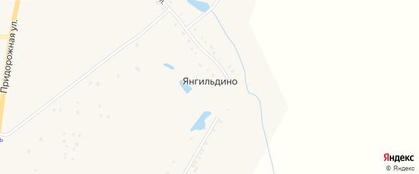 Центральная улица на карте деревни Янгильдино с номерами домов