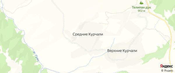 Карта села Курчали в Чечне с улицами и номерами домов