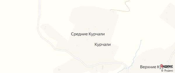 Улица А.А.Кадырова на карте села Средние-Курчали с номерами домов