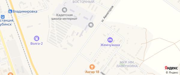 Улица Шоссе Авиаторов на карте Ахтубинска с номерами домов