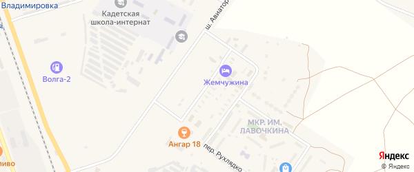 Конструкторская улица на карте Ахтубинска с номерами домов