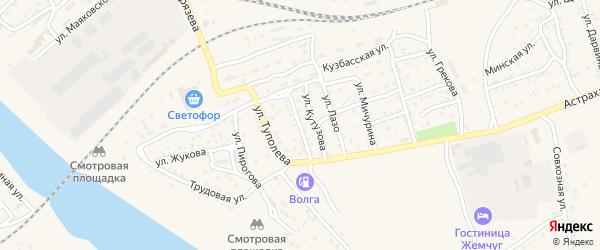 Улица Дзержинского на карте Ахтубинска с номерами домов