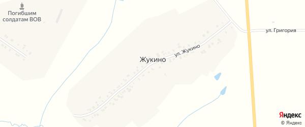 Улица Жукино на карте деревни Жукино с номерами домов