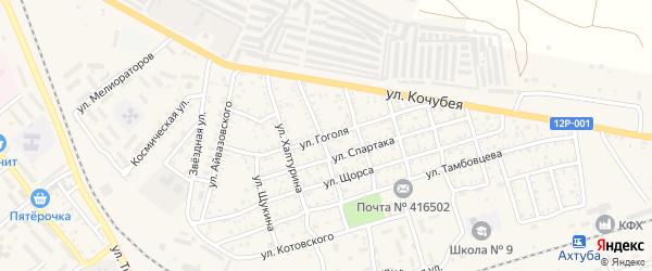 Улица Гоголя на карте Ахтубинска с номерами домов