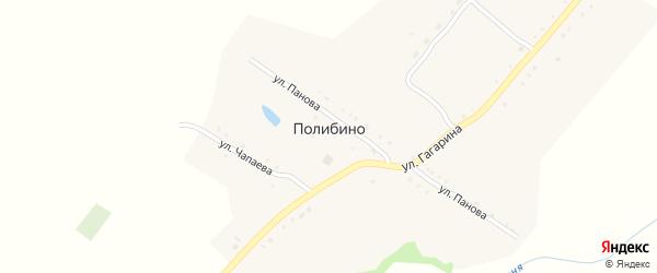 Улица Чапаева на карте села Полибино с номерами домов