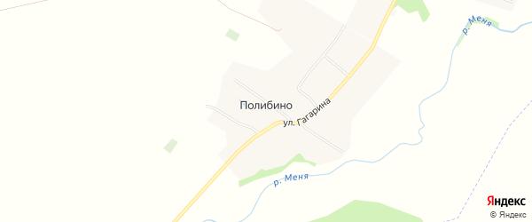 Карта села Полибино в Чувашии с улицами и номерами домов
