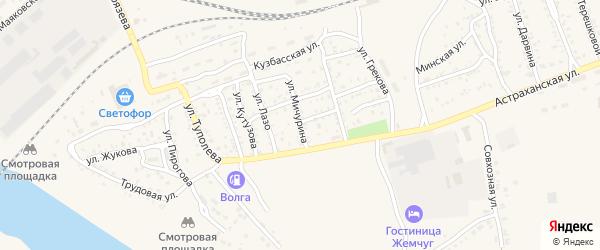 Улица Мичурина на карте Ахтубинска с номерами домов