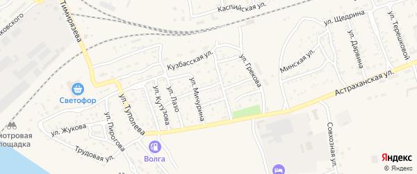 Московская улица на карте Ахтубинска с номерами домов