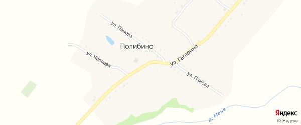 Улица Гагарина на карте села Полибино с номерами домов