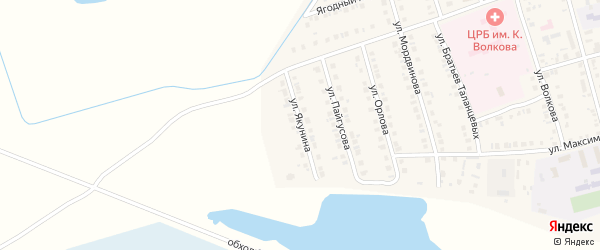 Переулок Якунина на карте Ядрина с номерами домов