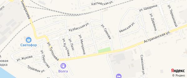 Улица Чернышевского на карте Ахтубинска с номерами домов