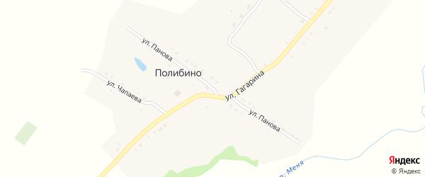 Улица Панова на карте села Полибино с номерами домов