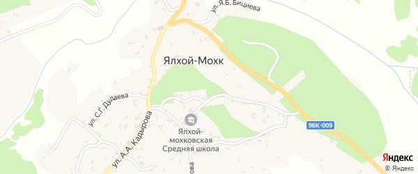 Улица Байракова на карте села Ялхой-Мохк с номерами домов