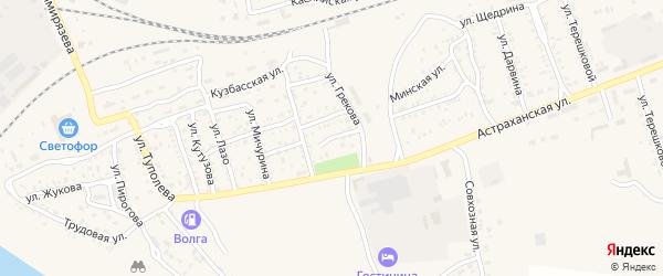 Улица Моцарта на карте Ахтубинска с номерами домов