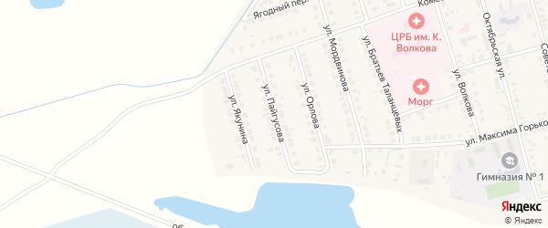 Улица Пайгусова на карте Ядрина с номерами домов