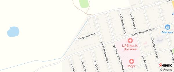 Ягодный переулок на карте Ядрина с номерами домов