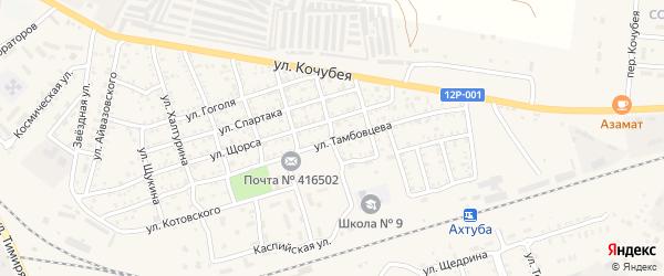 Улица Чехова на карте Ахтубинска с номерами домов
