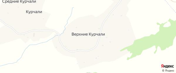 Улица А.А.Кадырова на карте села Верхние Курчали с номерами домов