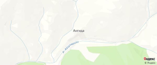 Карта села Ангиды в Дагестане с улицами и номерами домов